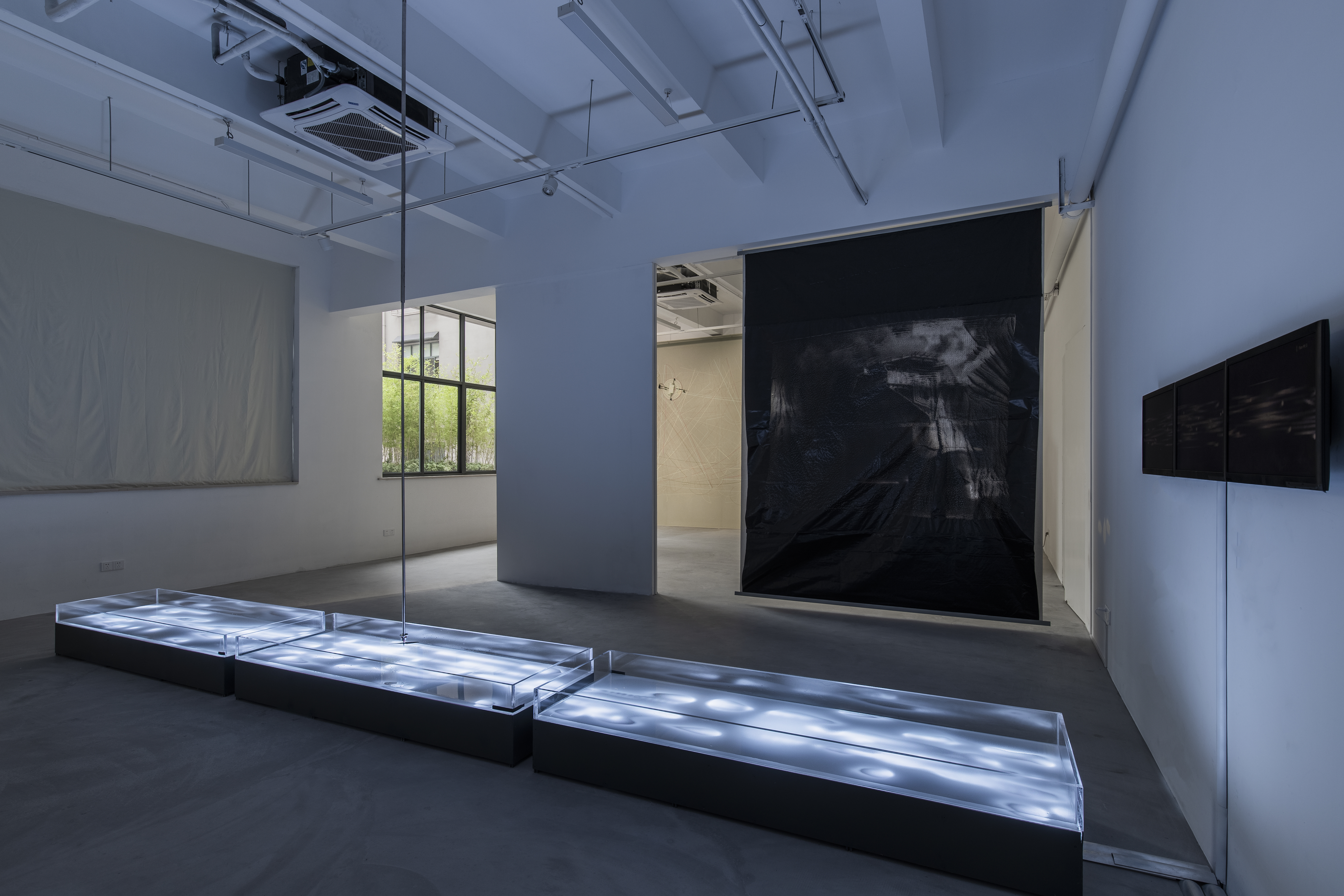 Installation view of Who's Creating