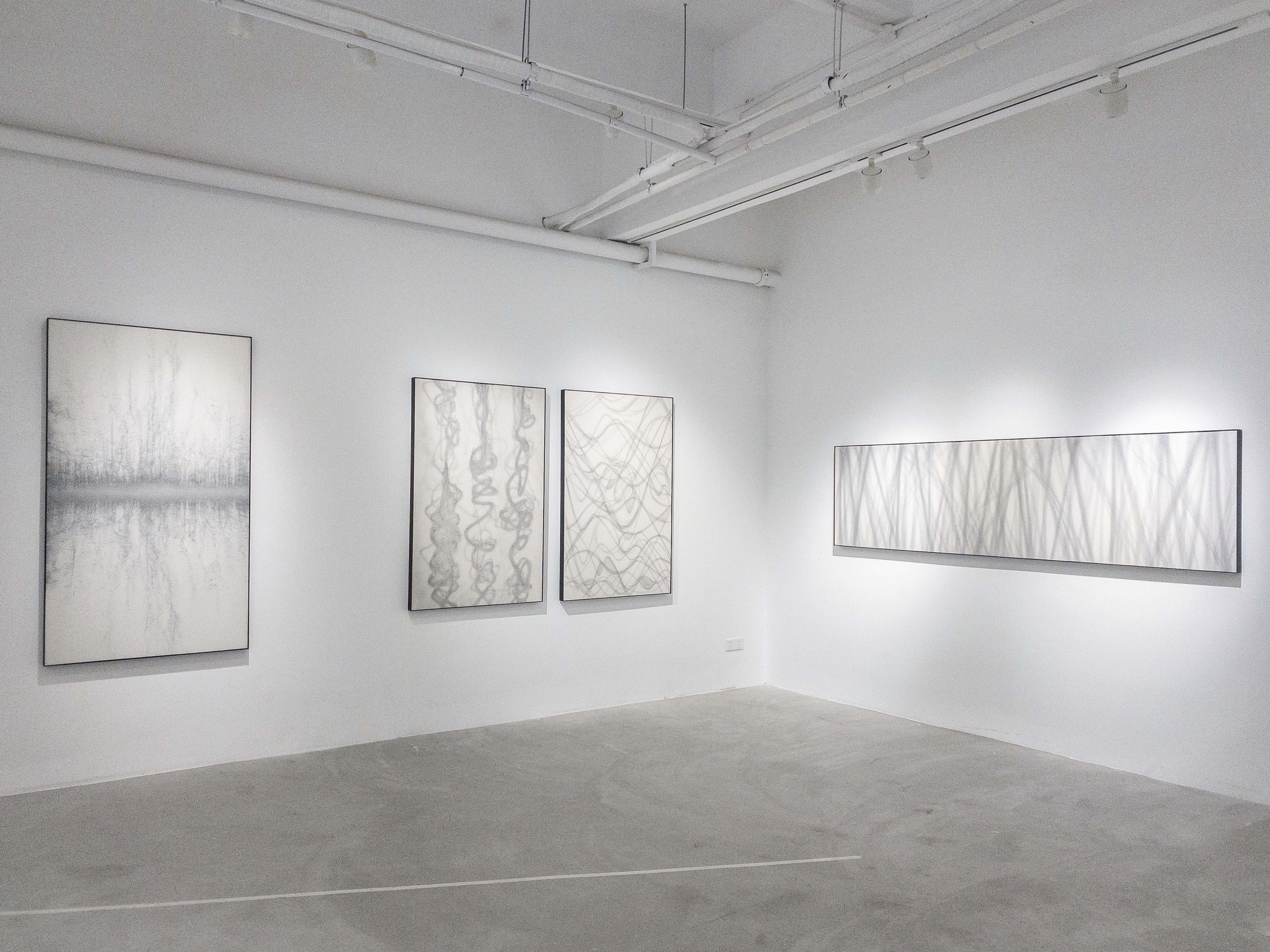 Installation view of Unveiled Bright