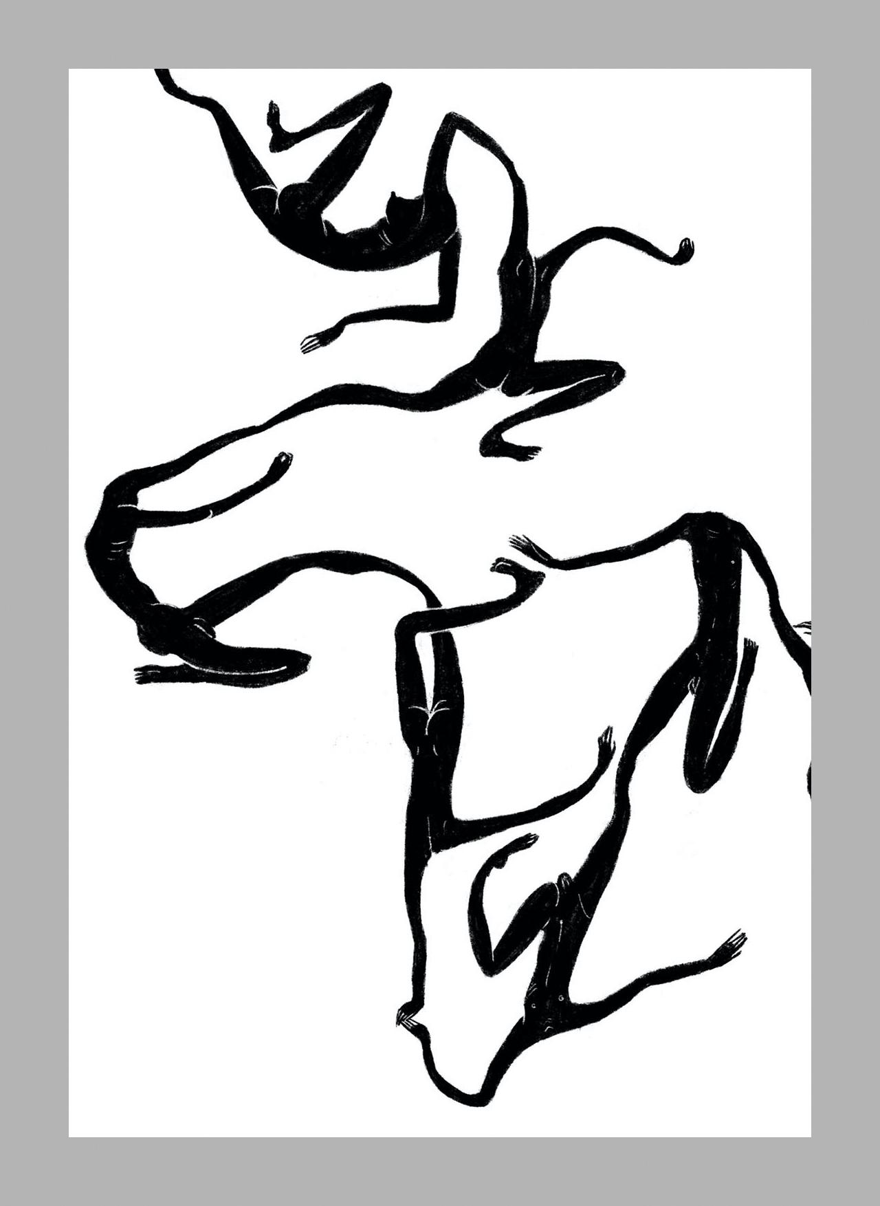 Zhou Meng, series work of Imaginitive Figures (detail)